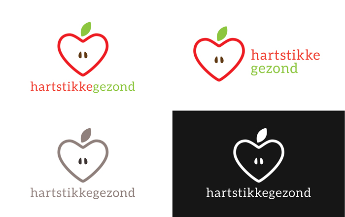 Het logo dat we maakten voor HartstikkeGezond