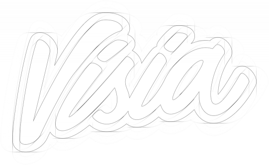 Visia Media logo ontwerp schets