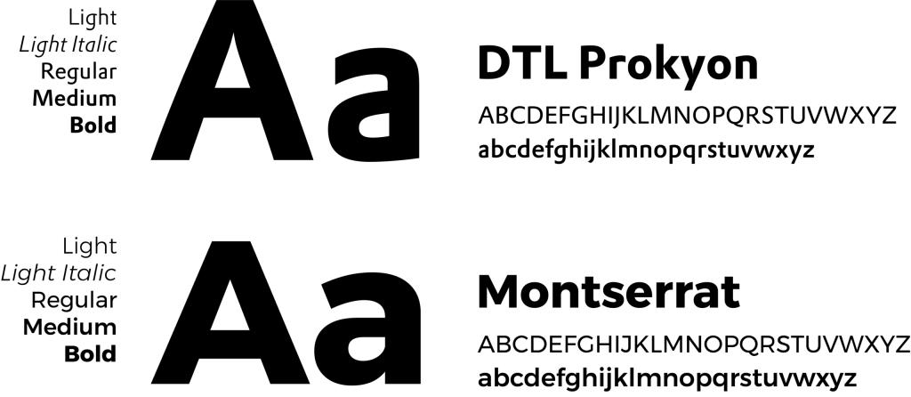 Lettertypes voor de rebranding