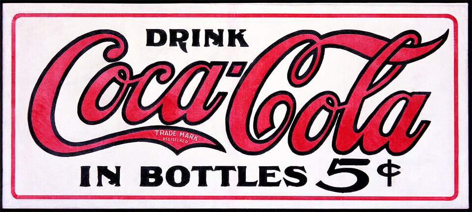 Het eerste Coca-Cola logo