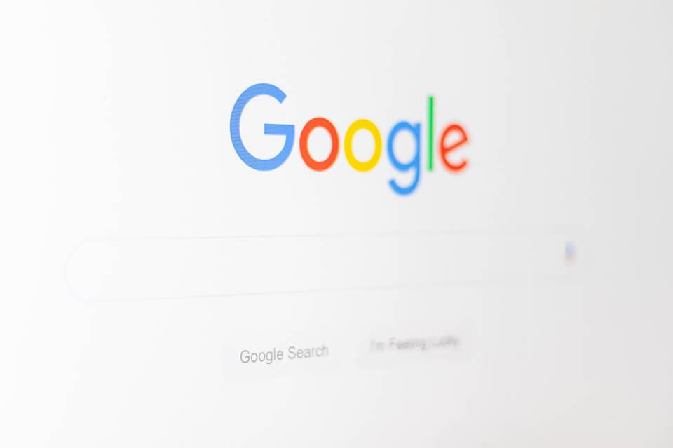 Screenshot van Google