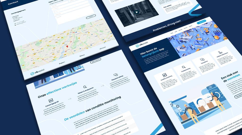 Voorbeeld van ontwerpen gerealiseerd tijdens het websitetraject van vib-assist