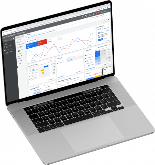 Online marketing Google Adwords dashboard
