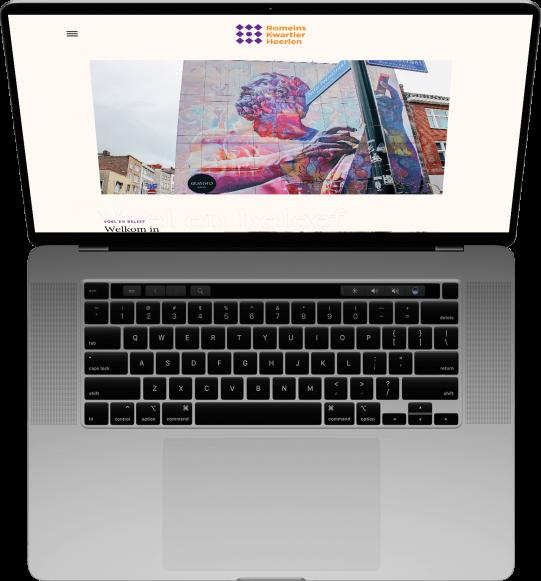 Romeins Kwartier Heerlen op MacBook