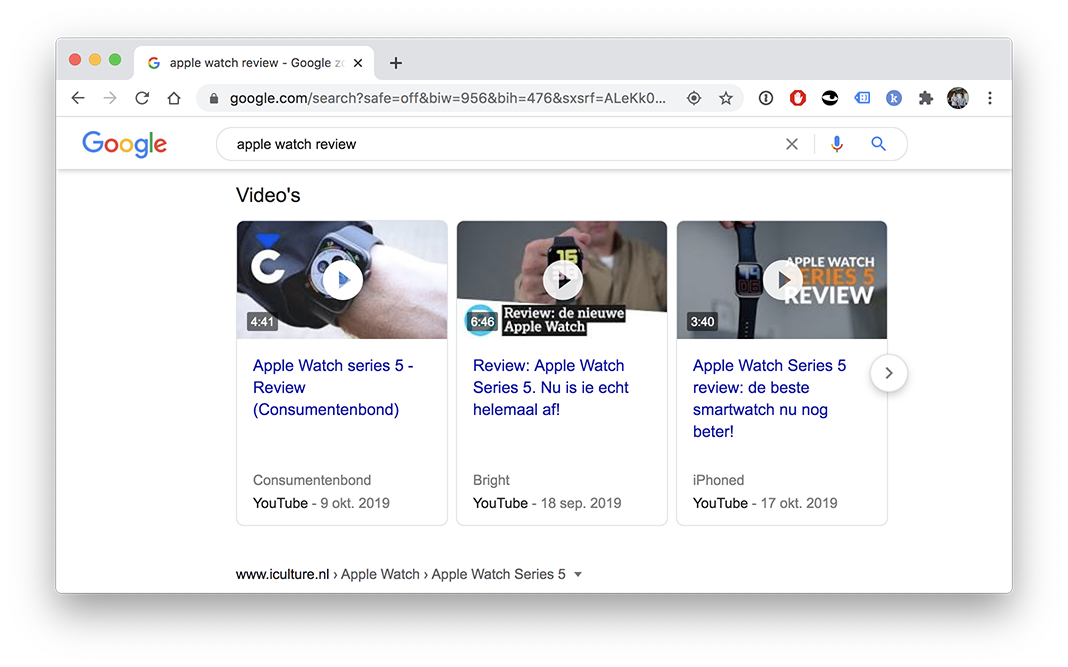 Rich snippets voor video's