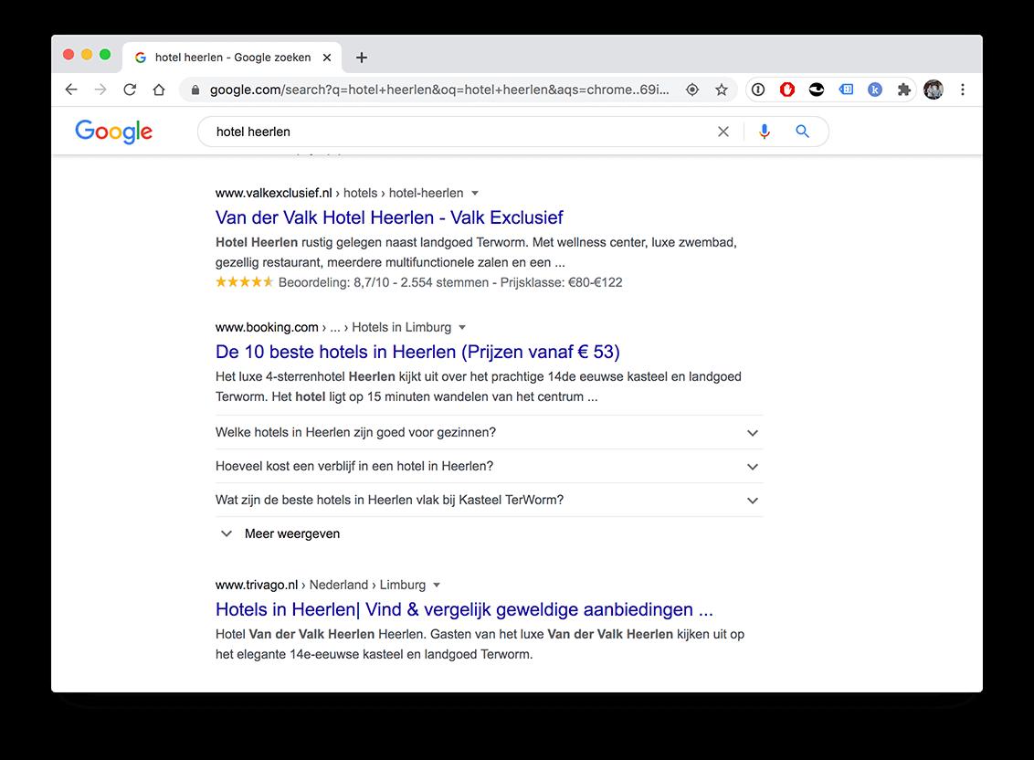 Rich snippets in de zoekresultaten van Google