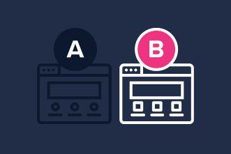 a/b test uitgebeeld