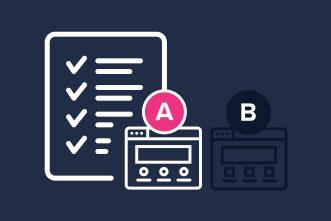 checklist met A/B test