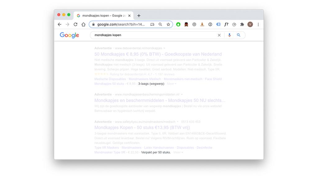 Highlight extensie Google Ads