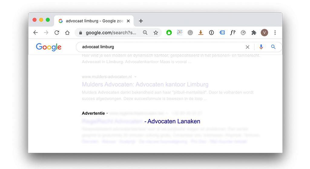 Locatietargetting in Google Ads