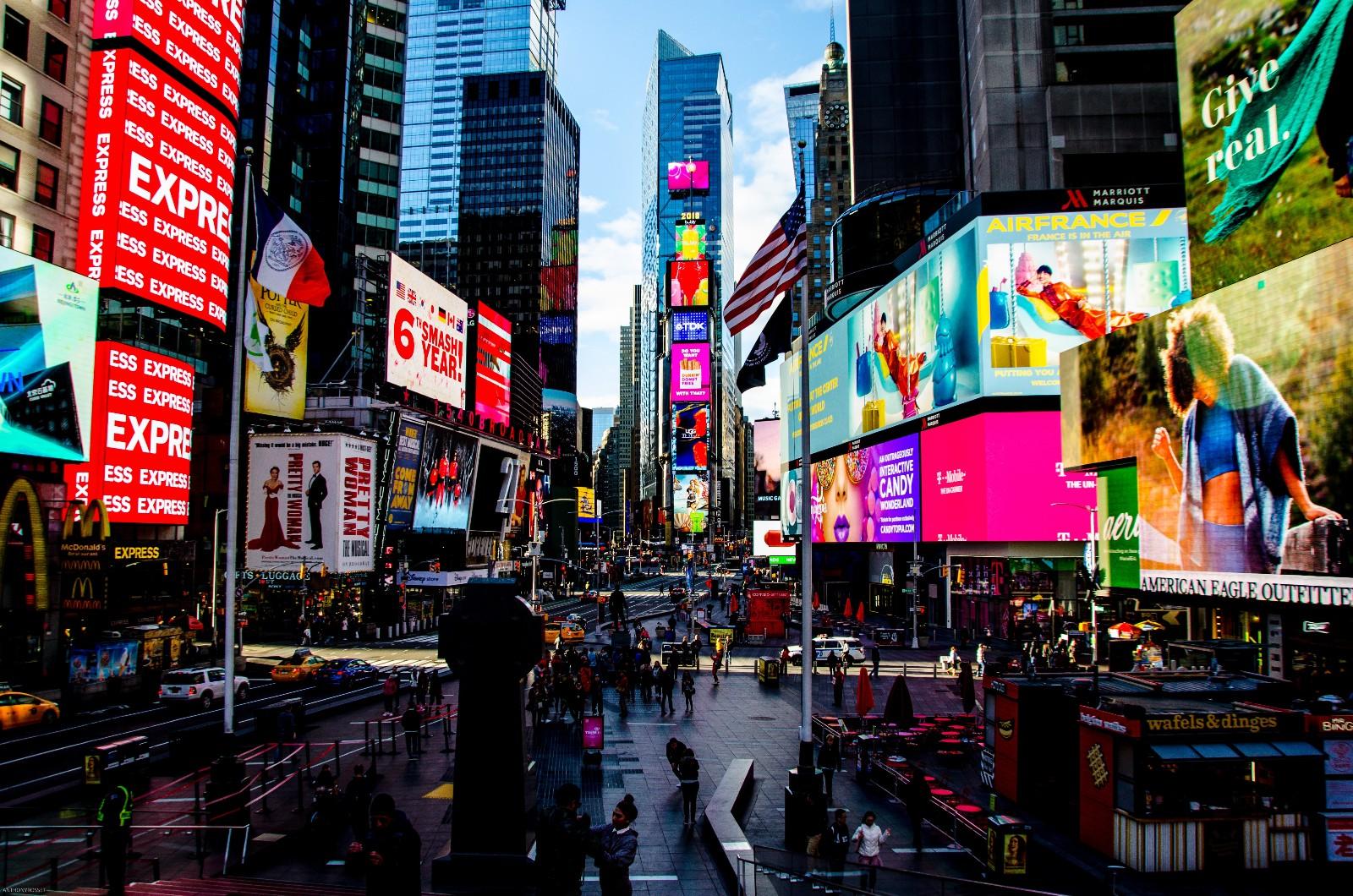 Opvallen als bedrijf via advertenties op Times Square