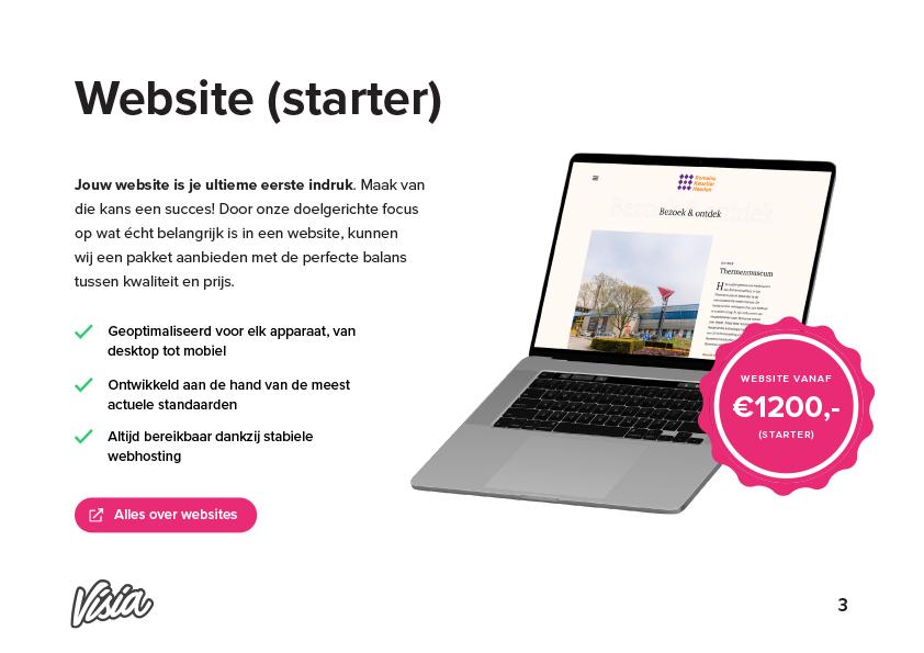 Wat kost een website? Prijslijst