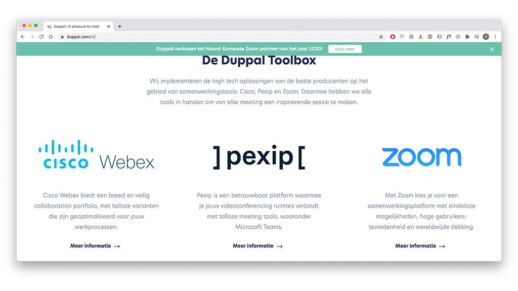 Ontwerp met voorbeeld van gebruiksvriendelijkheid in webdesign