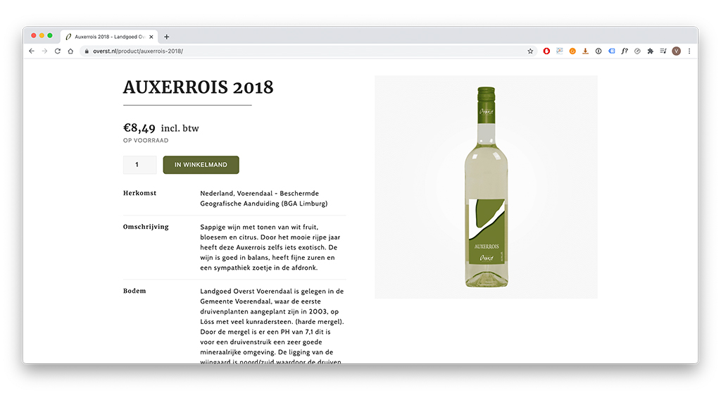 Website van Landgoed Overst