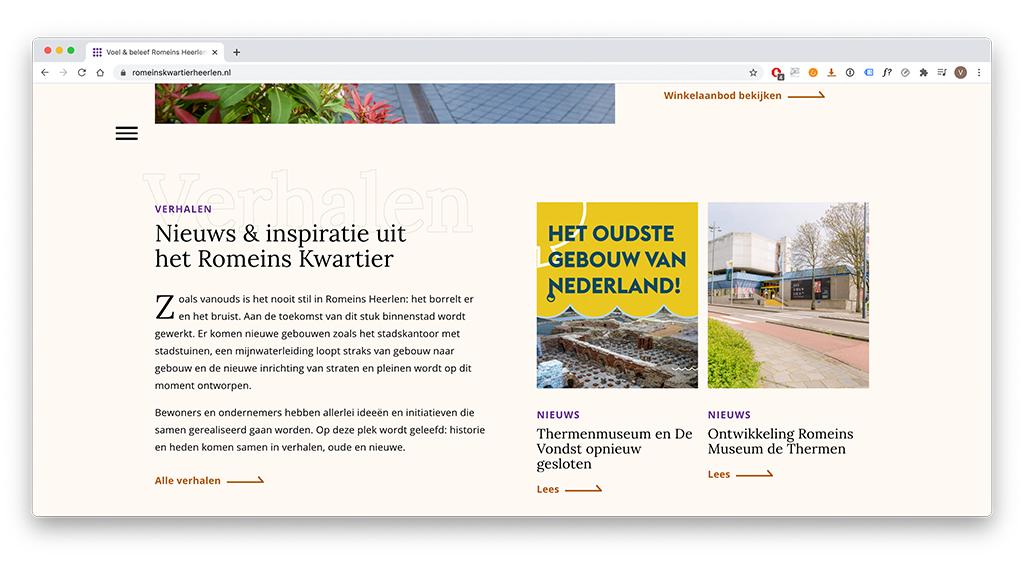Website als voorbeeld van gebruiksvriendelijkheid in webdesign