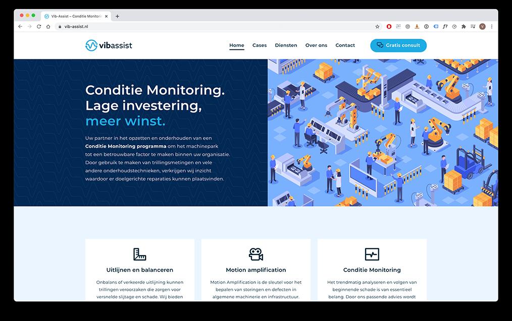 voorbeeld van structuur in webontwerp